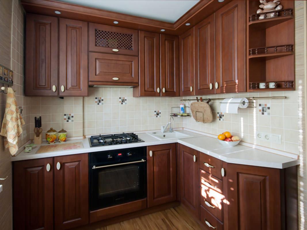 Кухня 6 кв м с гарнитуром