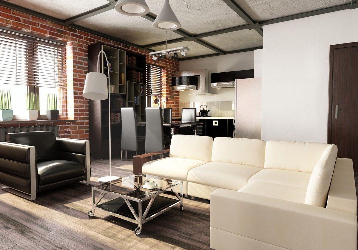 Идеи для однокомнатной квартиры в индустриальном стиле