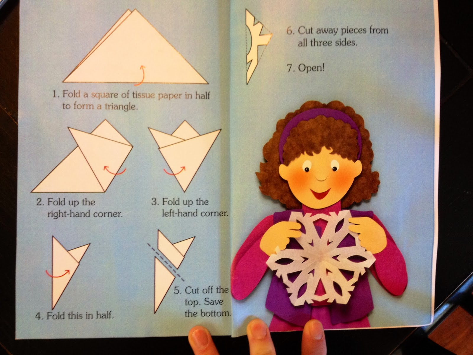 Инструкция для снежинок из бумаги