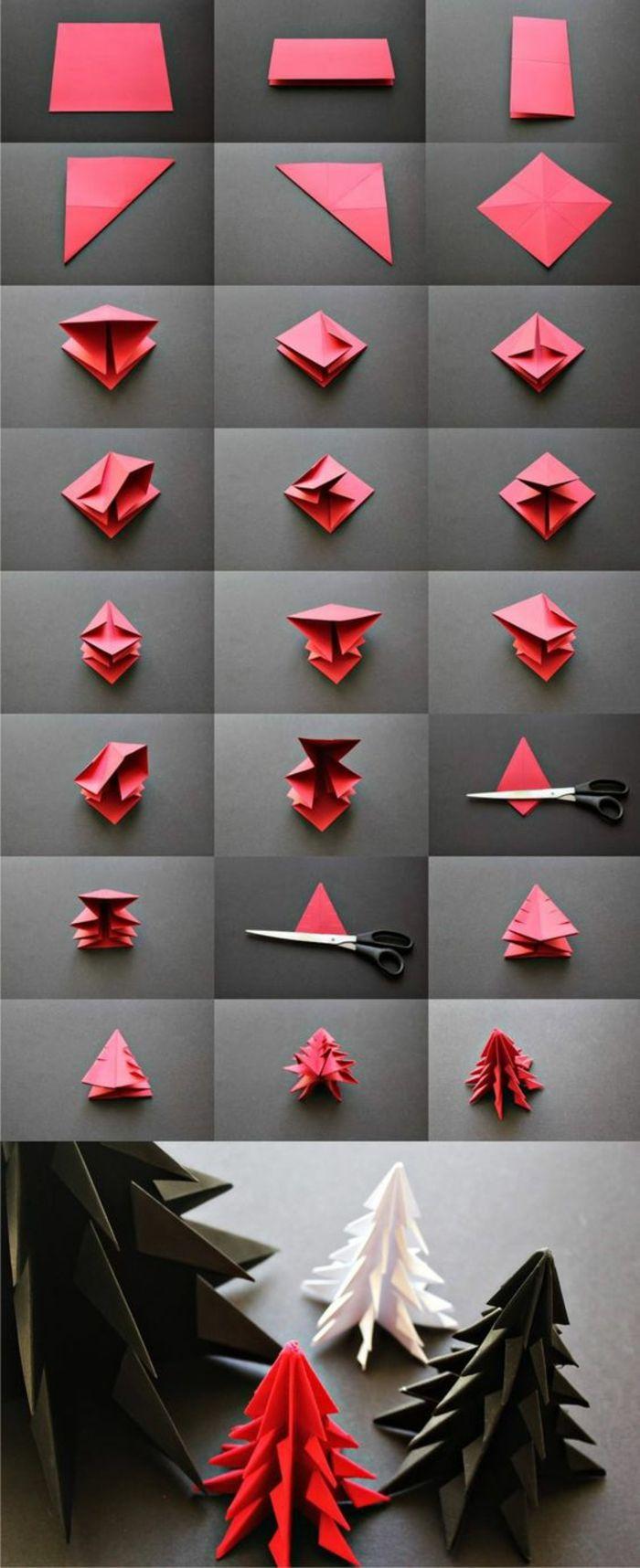 Инструкция для елочки из бумаги на новый год