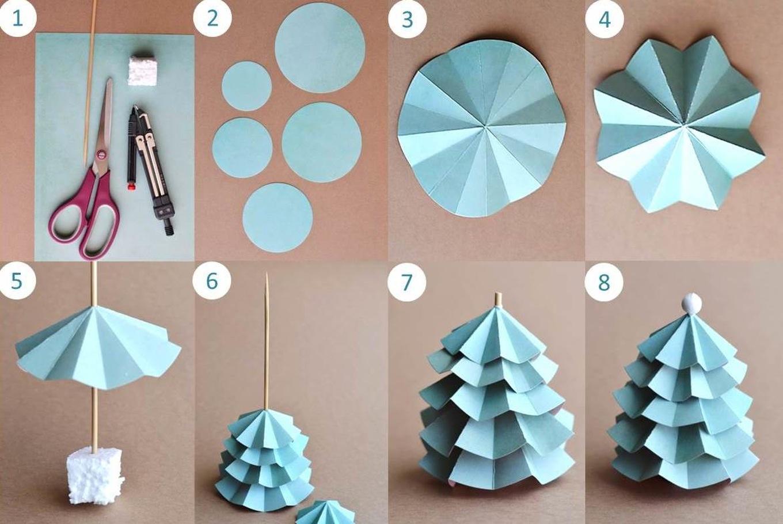Инструкция поделок из бумаги на новый год
