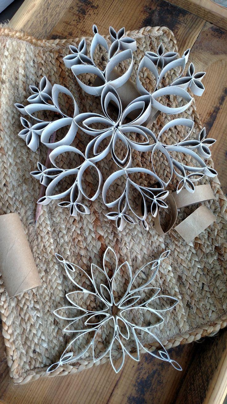 Снежинки из картона