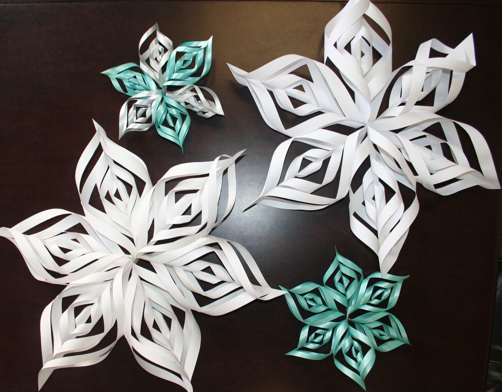 Бумажные снежинки киригами