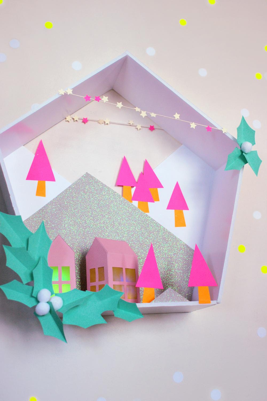 Поделки из бумаги и коробки на новый год