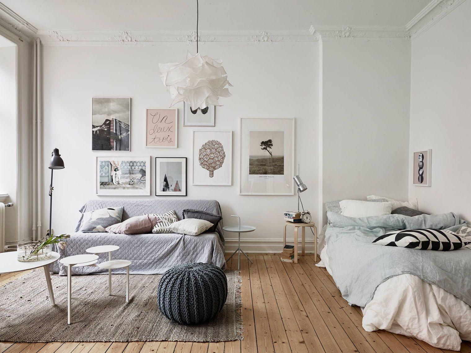Однокомнатная квартира с кроватью