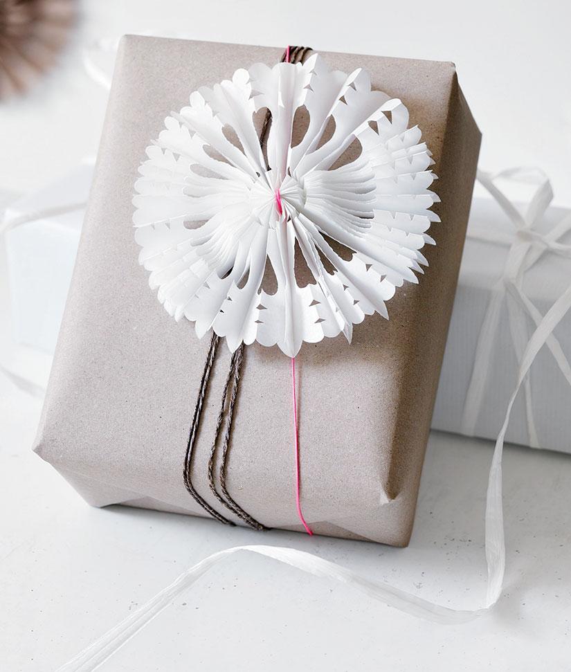Круглая снежинка из бумаги