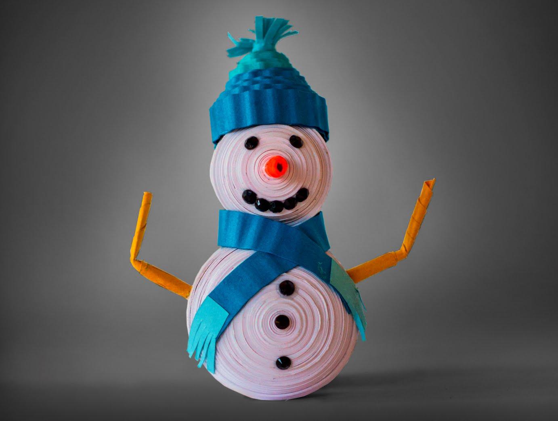 Как сделать снеговика в технике квиллинг