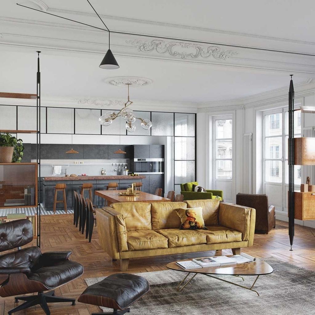 Идеи для однокомнатной квартиры в стиле лофт