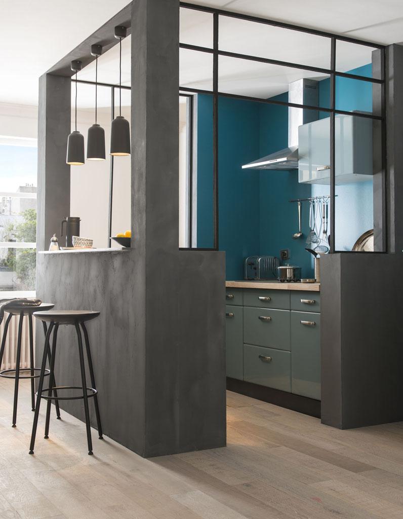 Кухня 6 кв м в стиле лофт