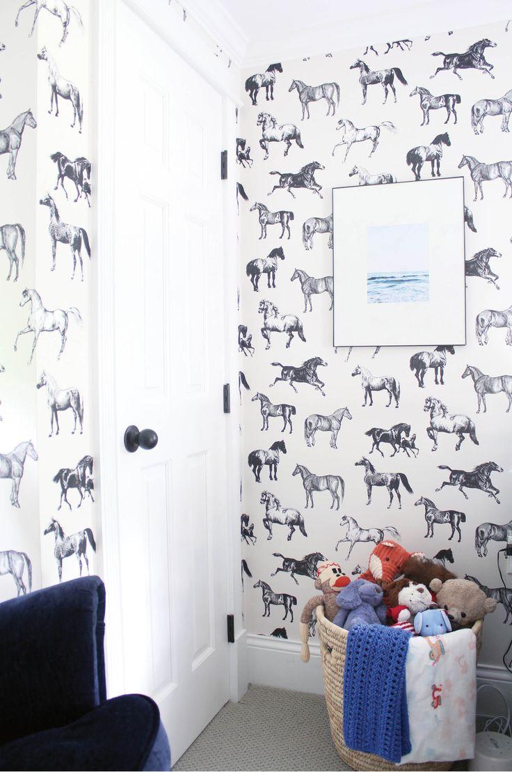 Детские обои с лошадками