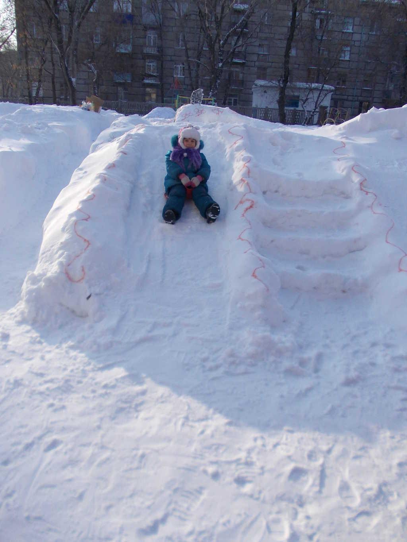 Снежная горка маленькая