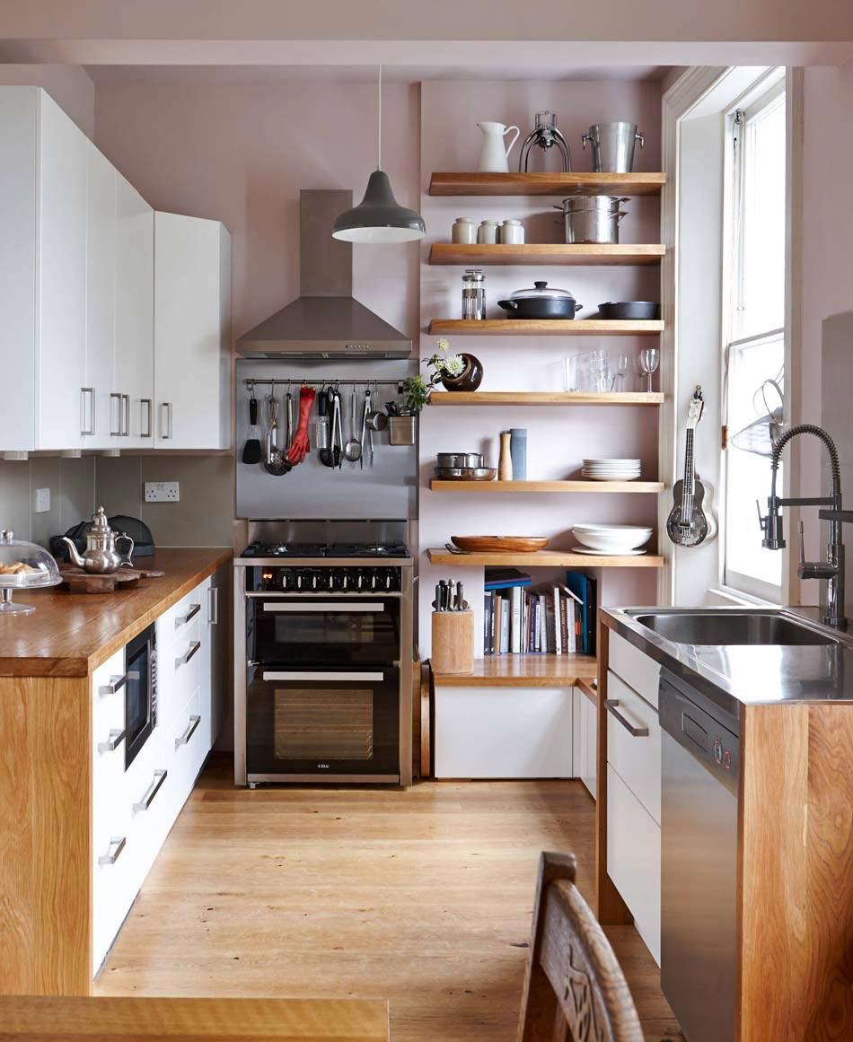 Кухня 6 кв м из массива