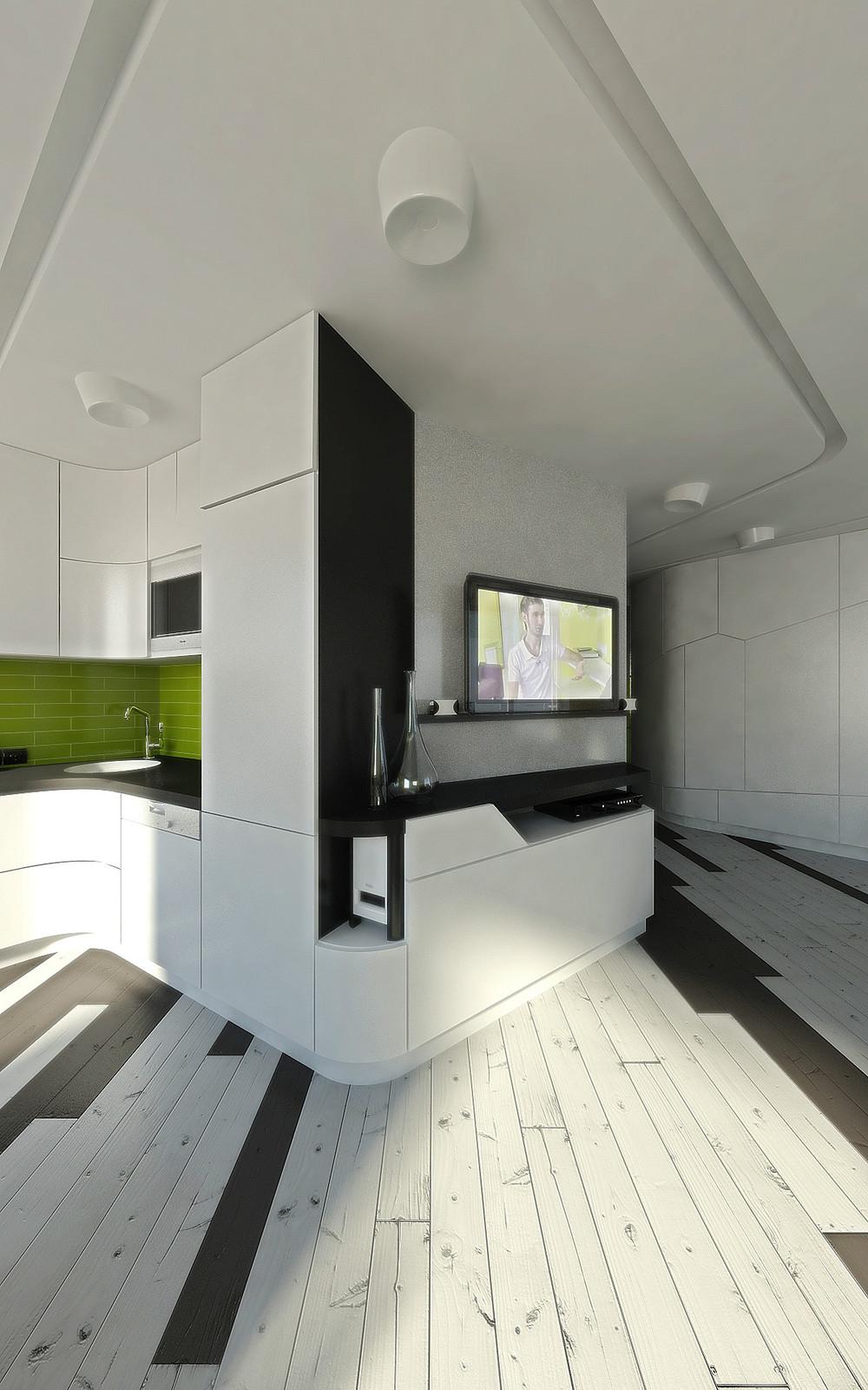 Дизайн однокомнатной хрущевки с модульной мебелью
