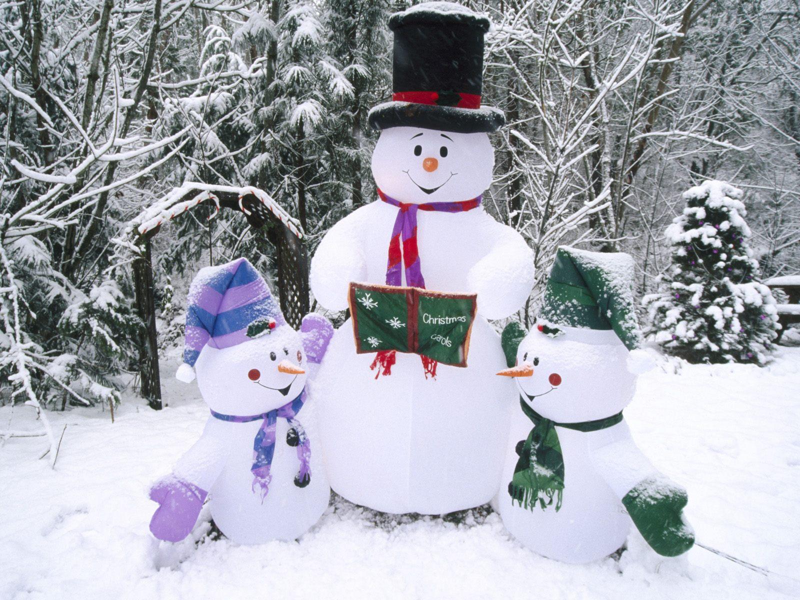 Как сделать снеговика надувного