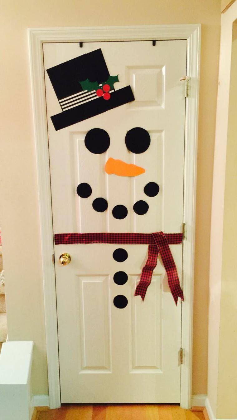 Новогодние наклейки на дверь
