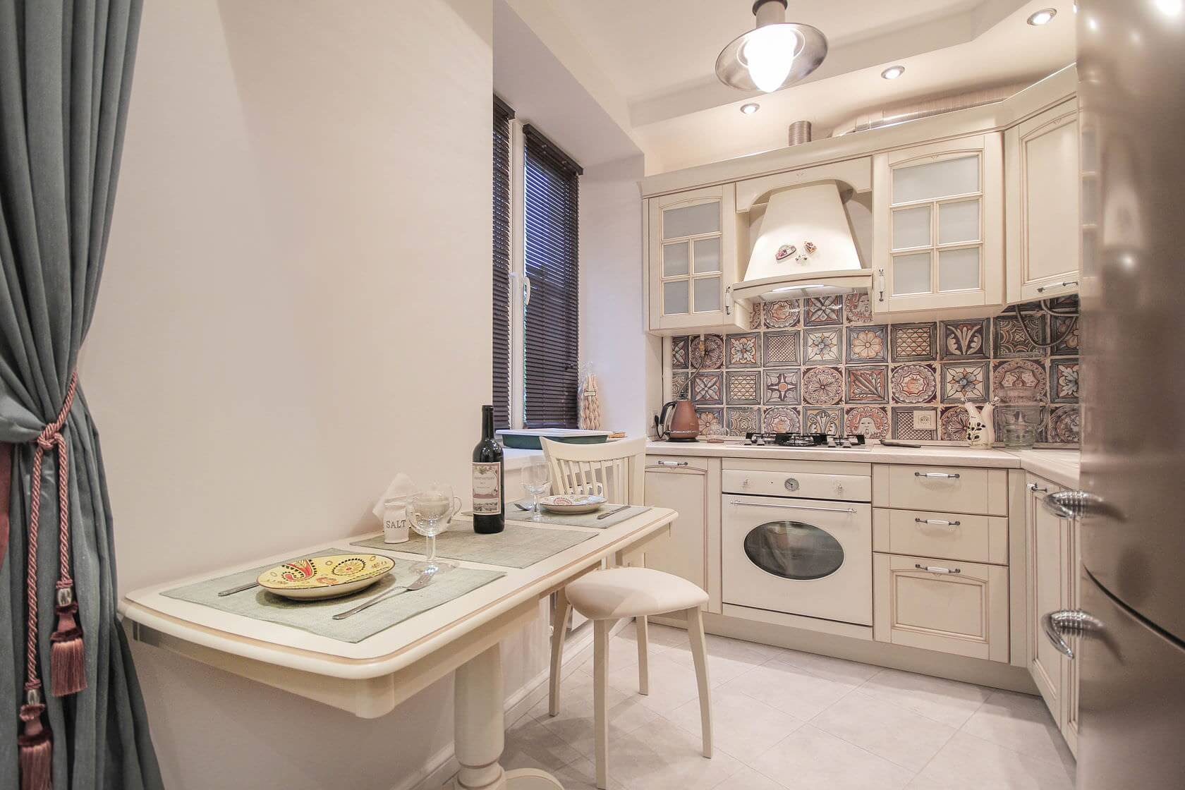 Кухня 6 кв м в стиле неоклассики