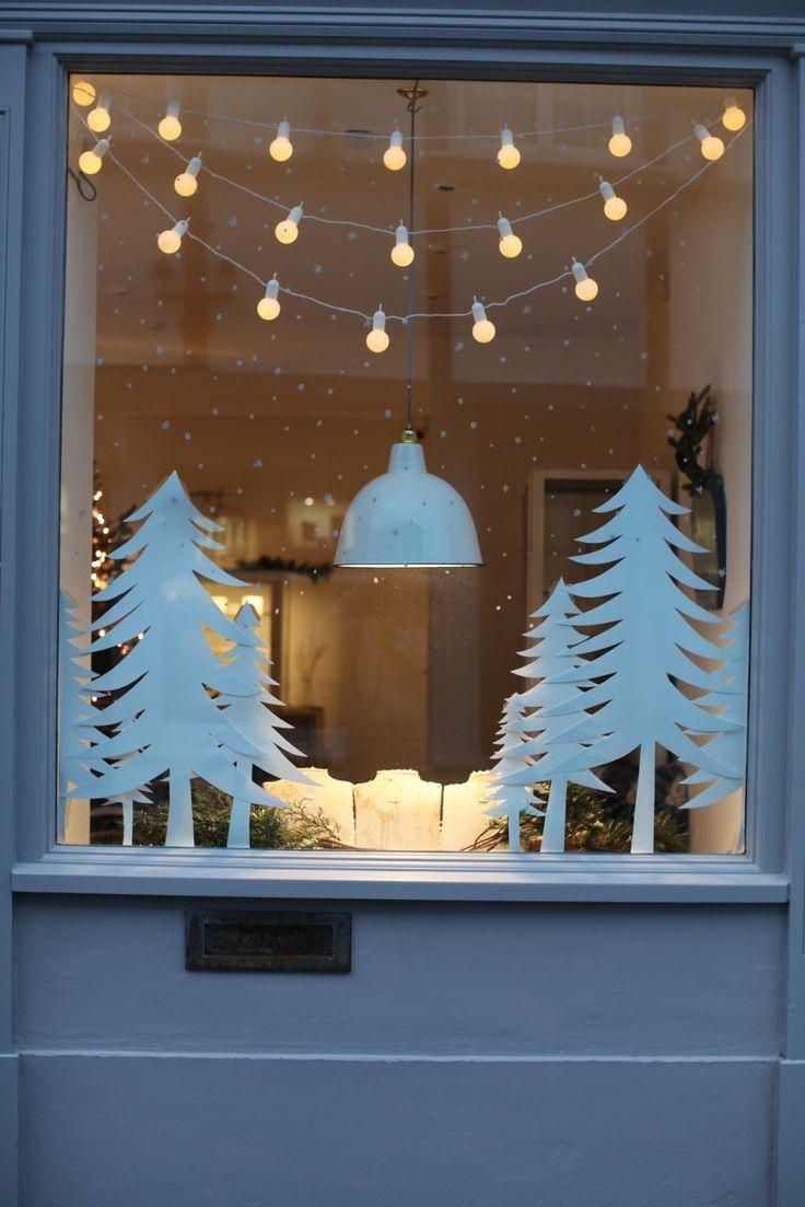 Поделки на окно из бумаги на новый год