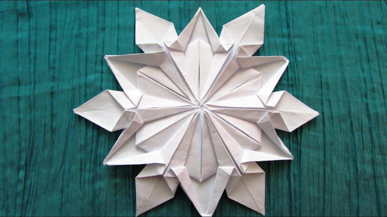 Снежинки из бумаги оригами