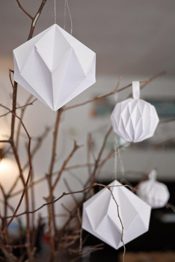 Поделки оригами из бумаги на новый год