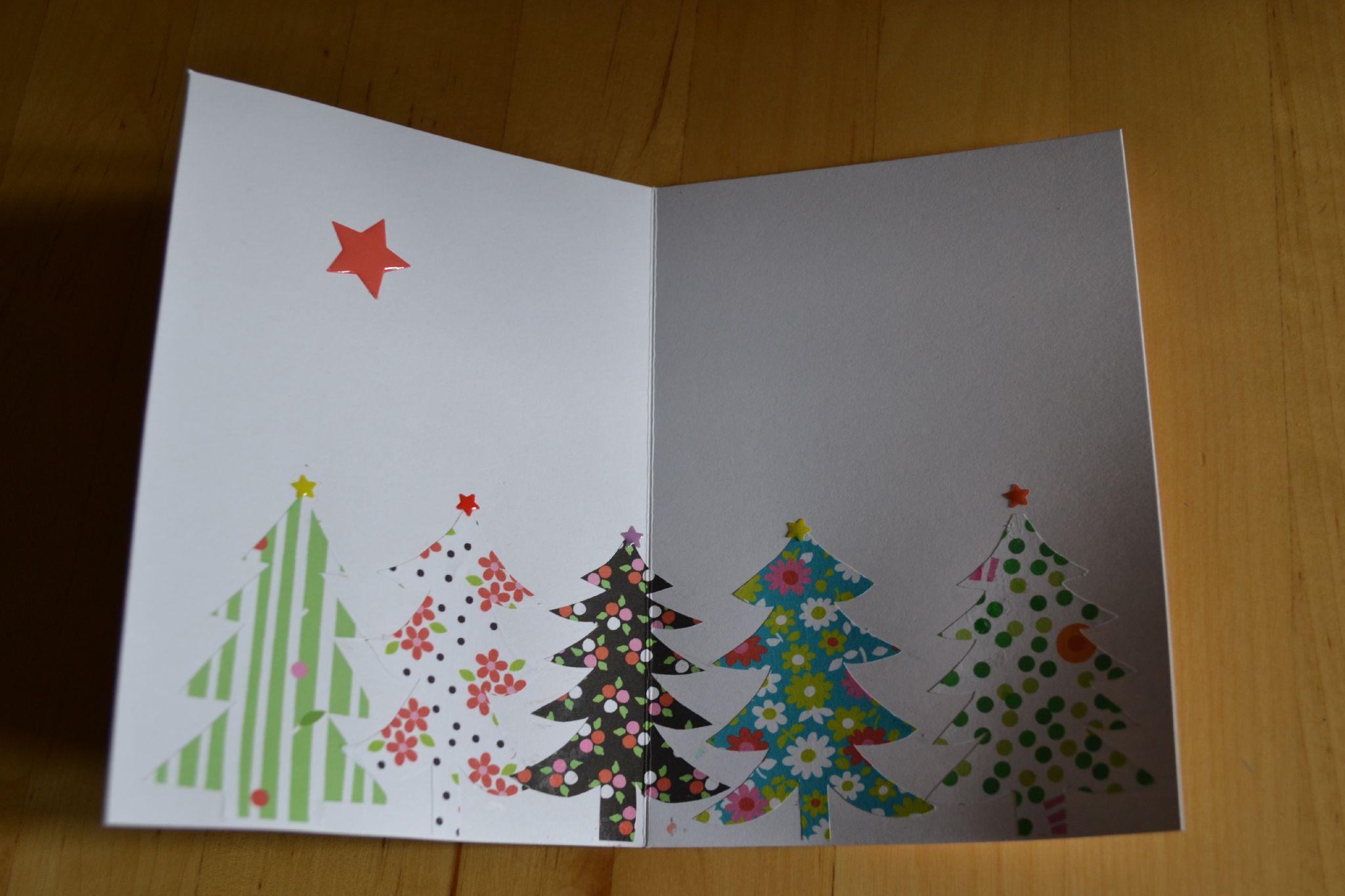 Новогодняя открытка из остатков бумаги
