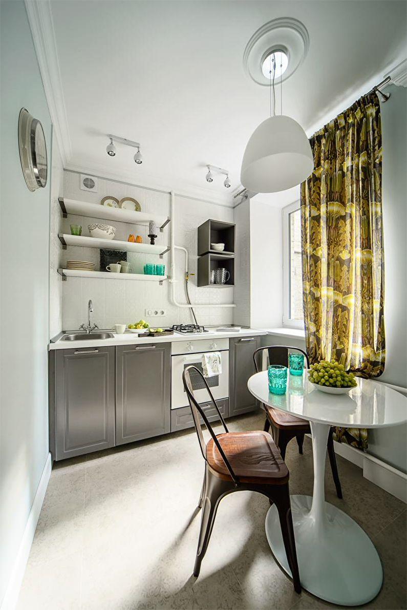 Кухня 6 кв м с отделкой