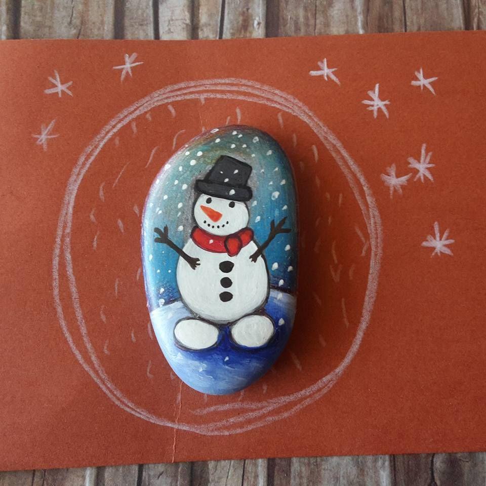 Как сделать открытку со снеговиком
