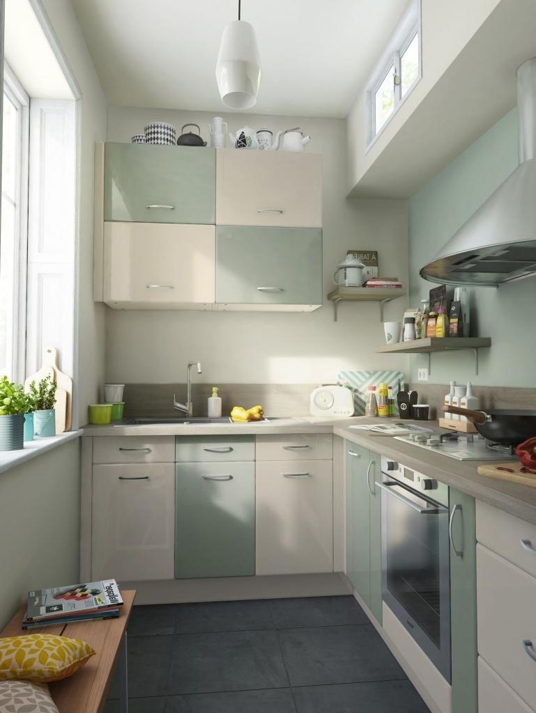 Кухня 6 кв м в пастельных тонах
