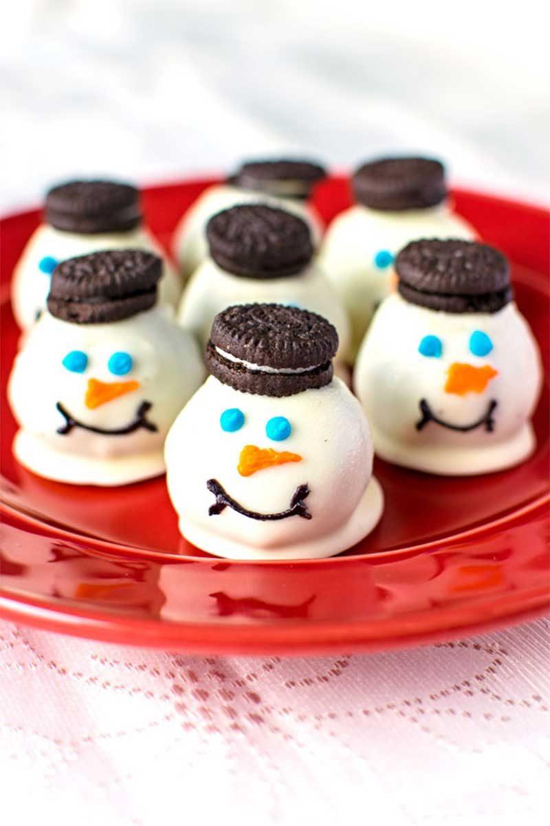 Как сделать печенье со снеговиком