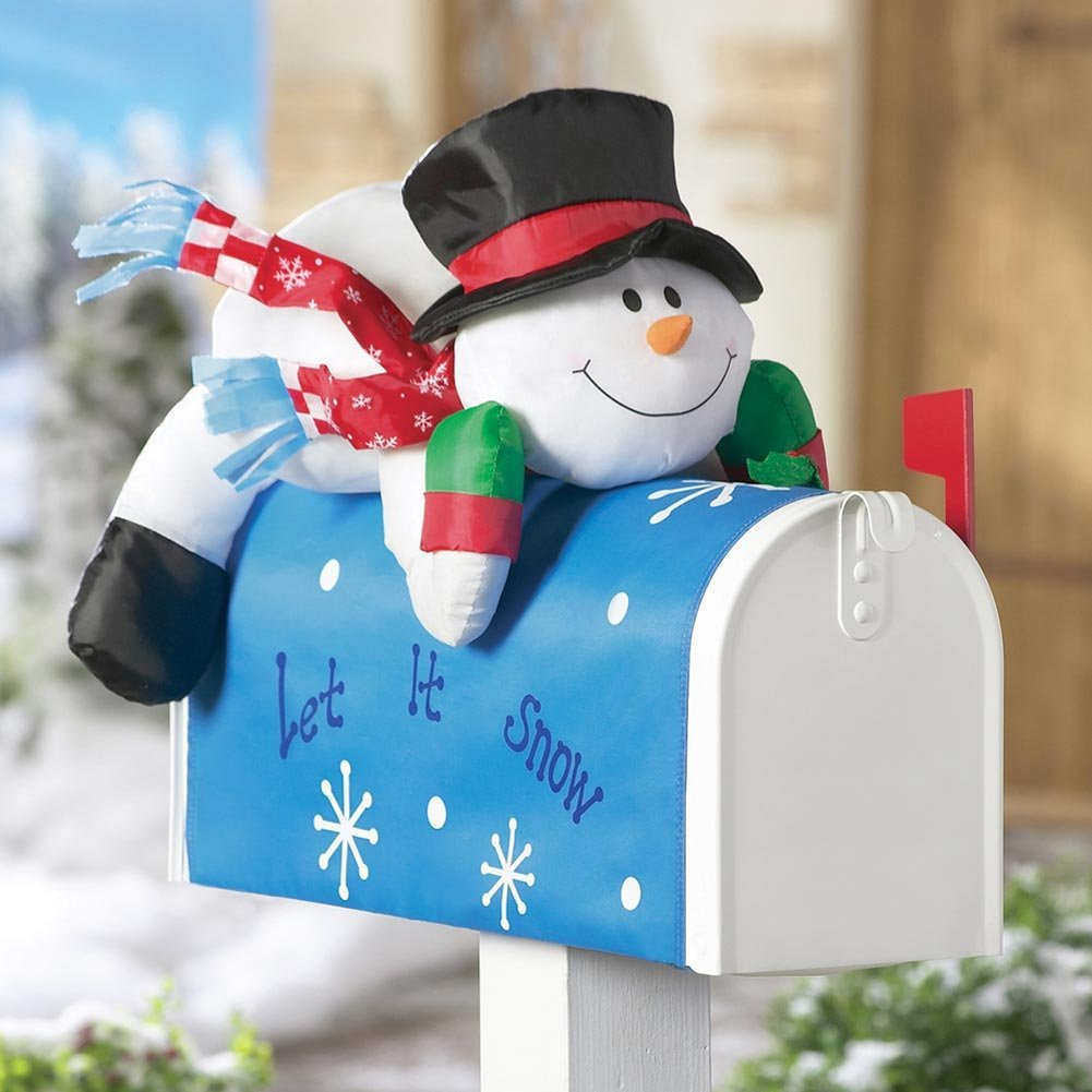 Как сделать снеговика на почтовый ящик