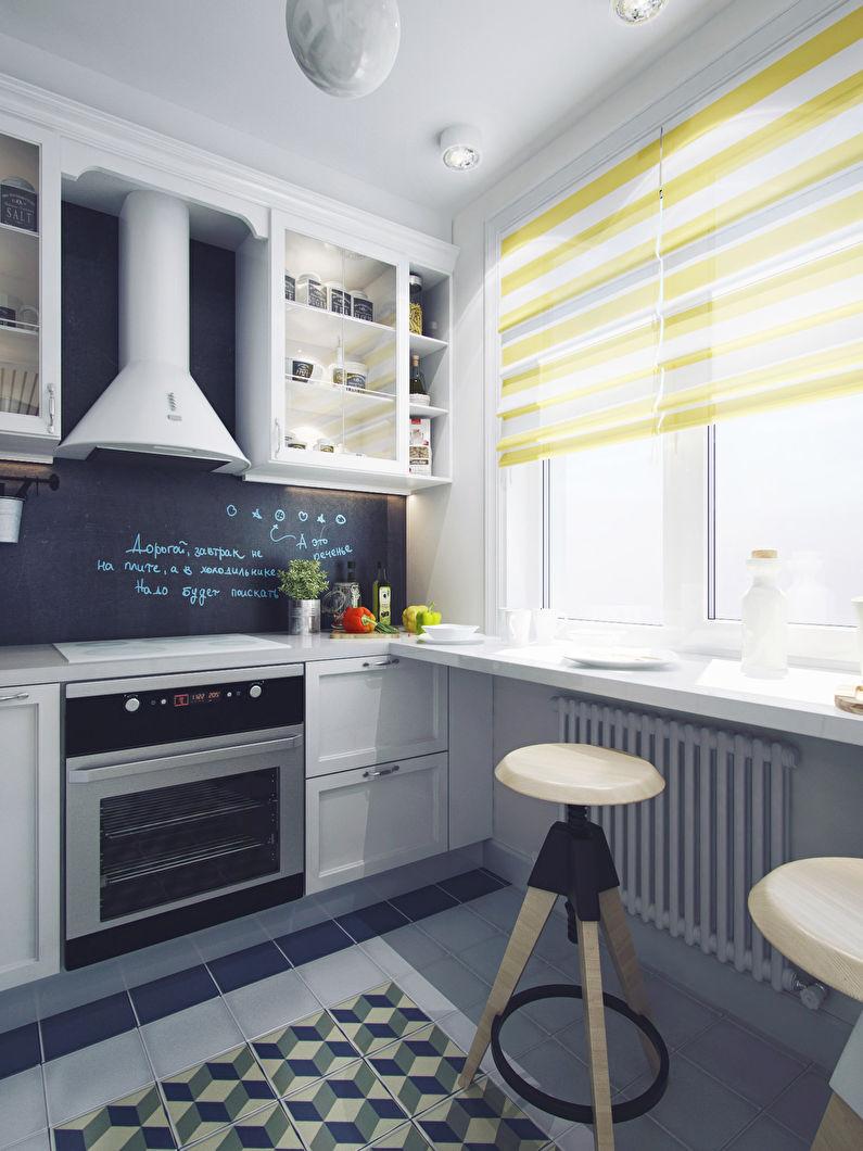 Кухня 6 кв м со столешницей подоконником