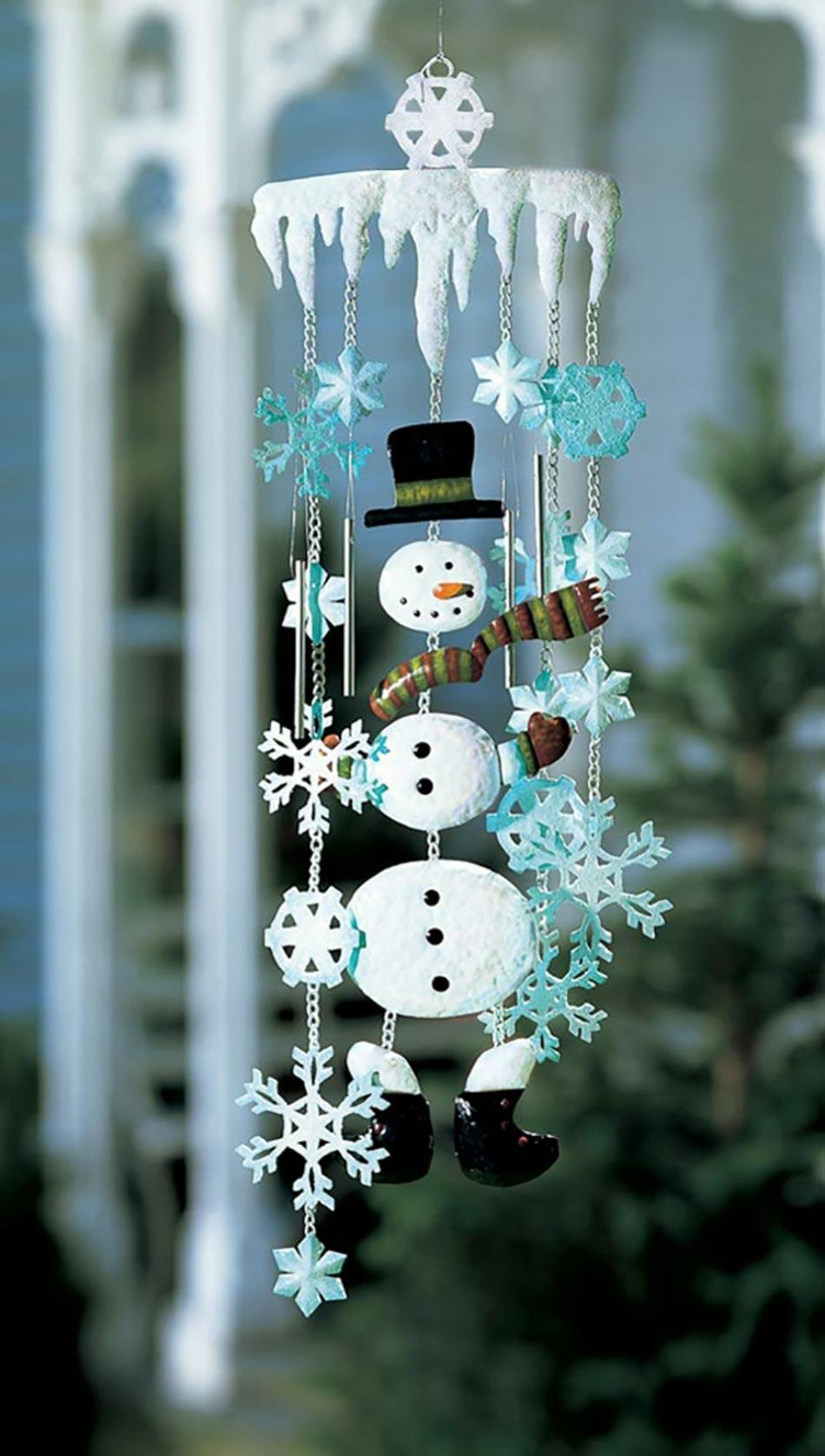 Как сделать снеговика подвесного
