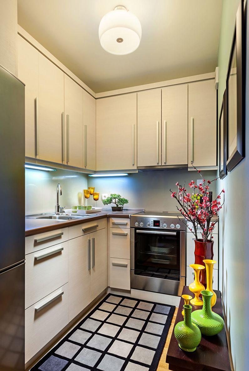 Кухня 6 кв м с подвесными шкафчиками