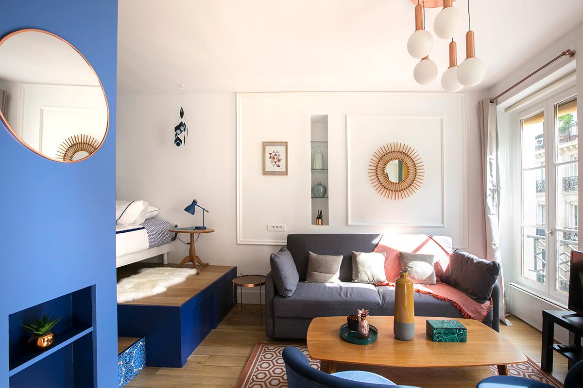 Идеи для однокомнатной квартиры в стиле ретро