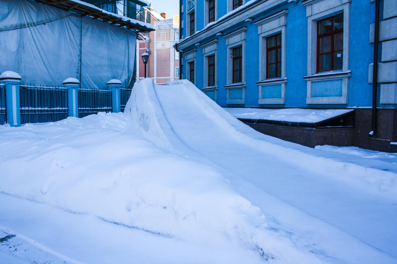 Снежная горка ровная