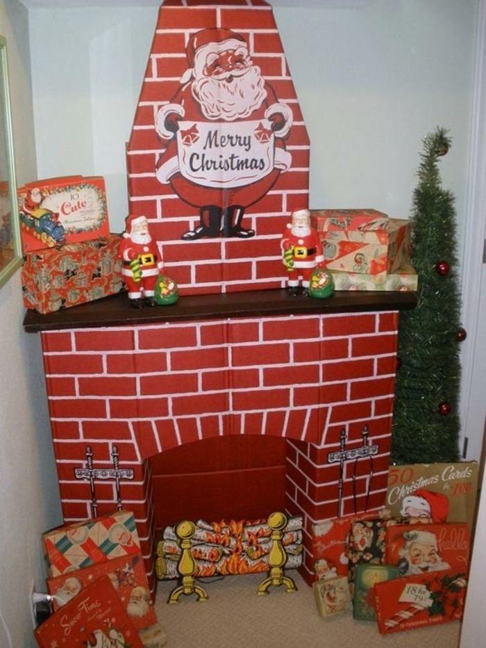 Рождественский камин из коробки