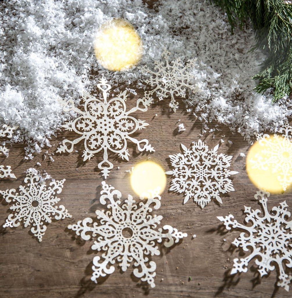 Снежинки из бумаги рождественские