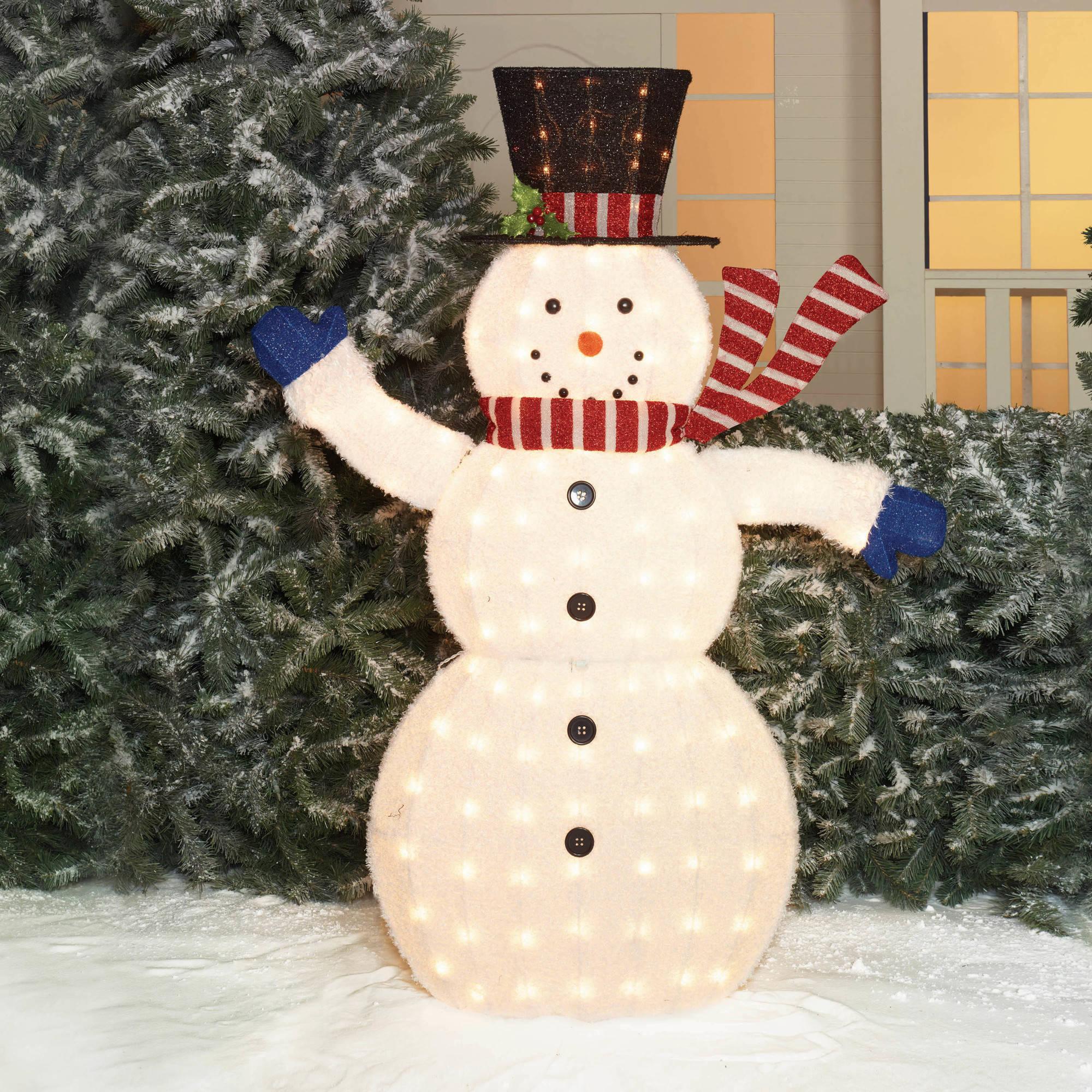 Снеговик для сада