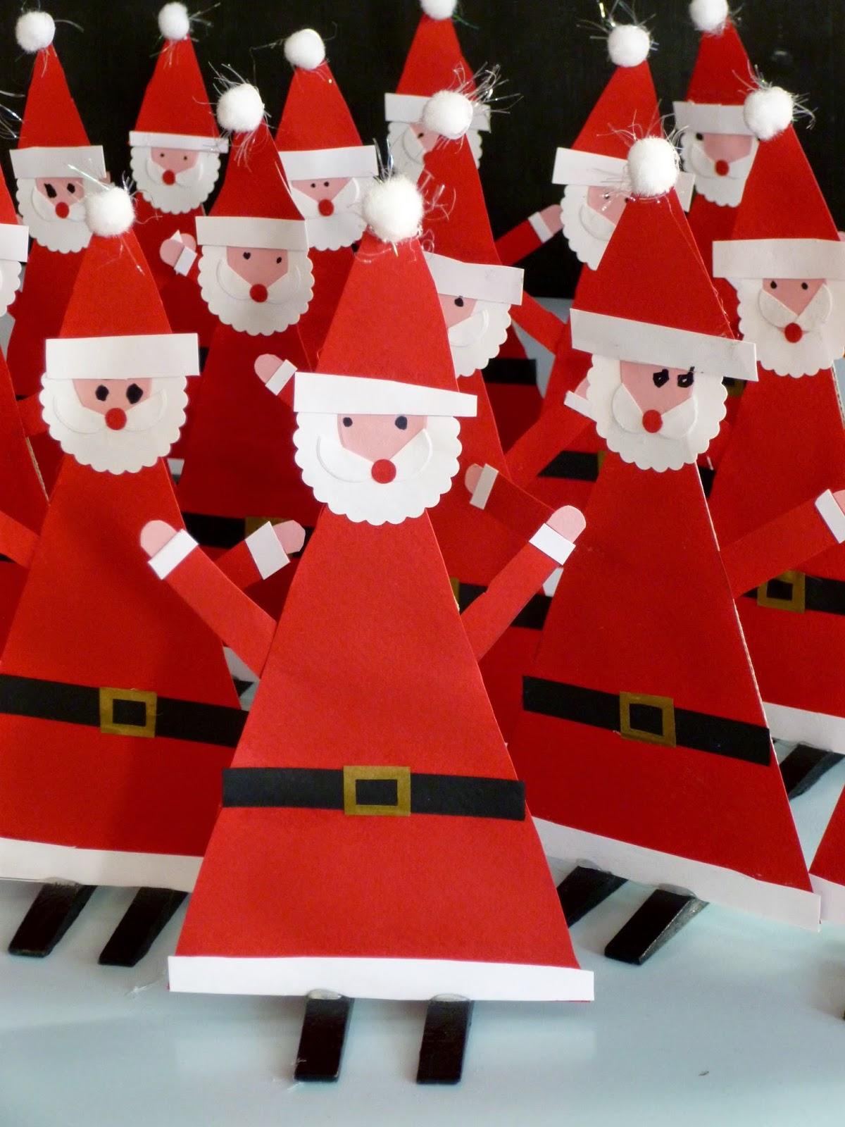 Санта из бумаги на новый год