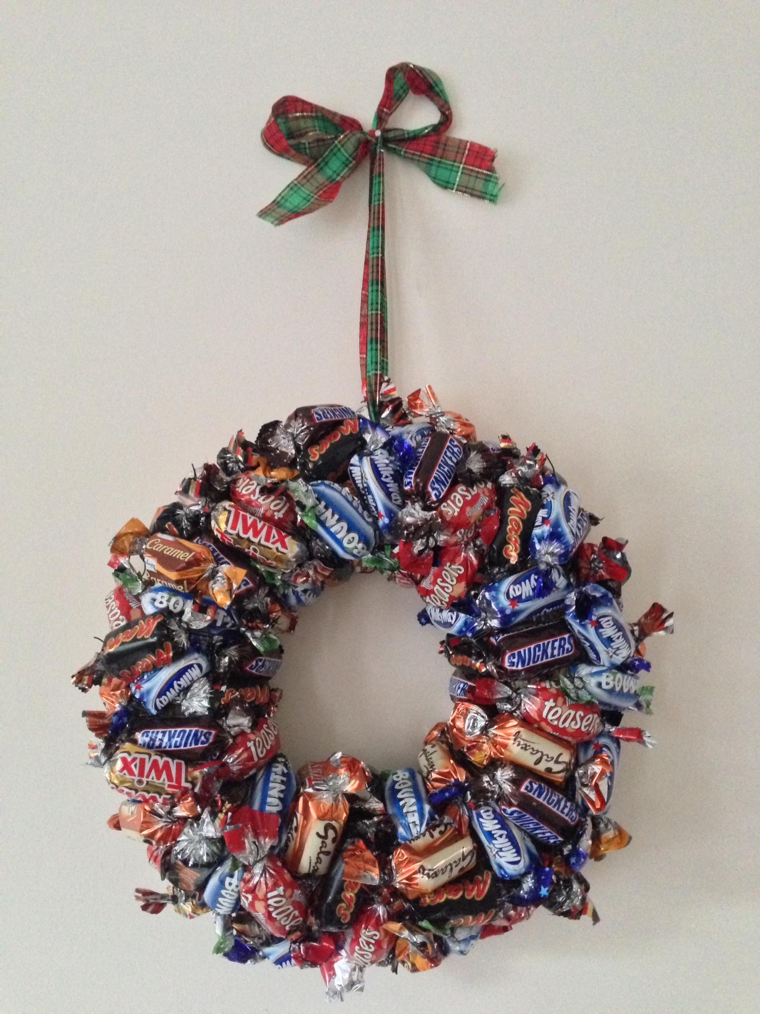 Рождественский венок съедобный