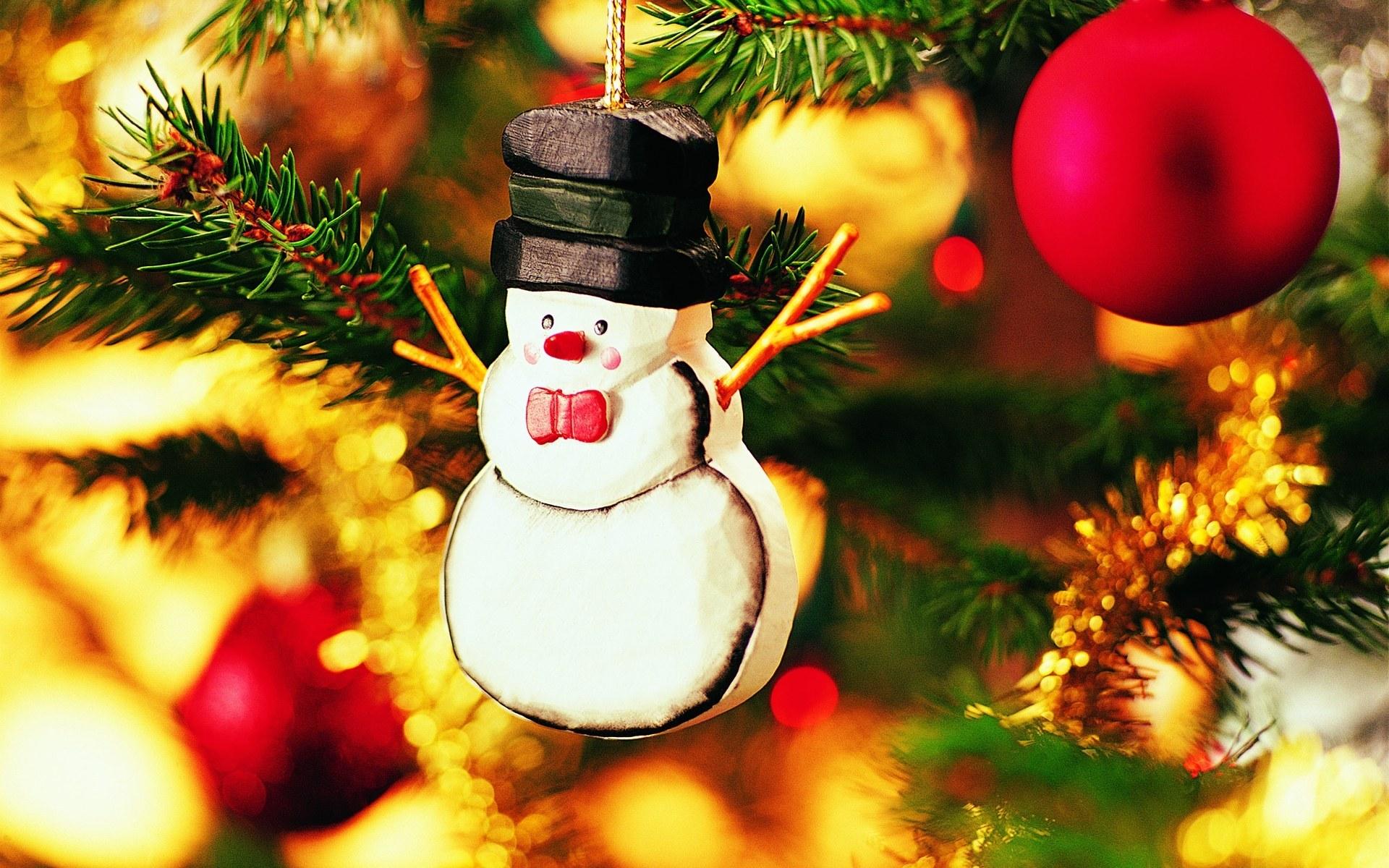 Снеговик на новогоднюю елку