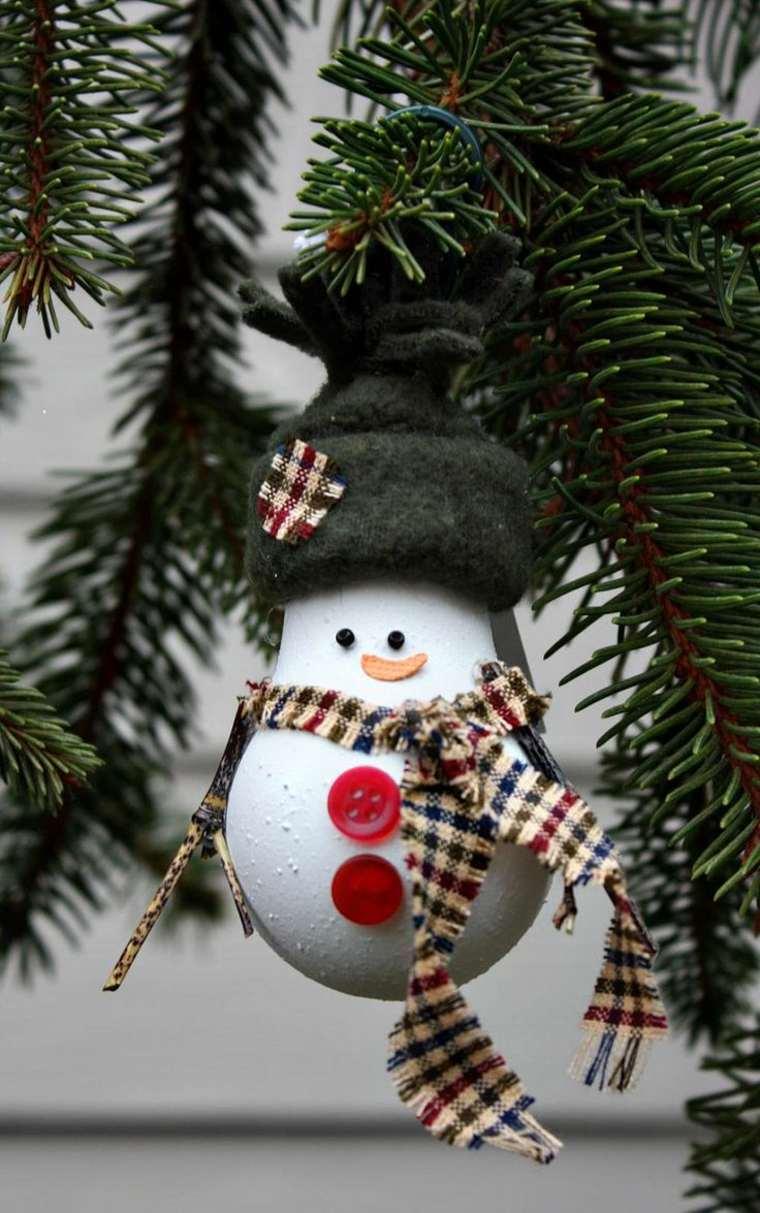 Елочное украшение снеговичок