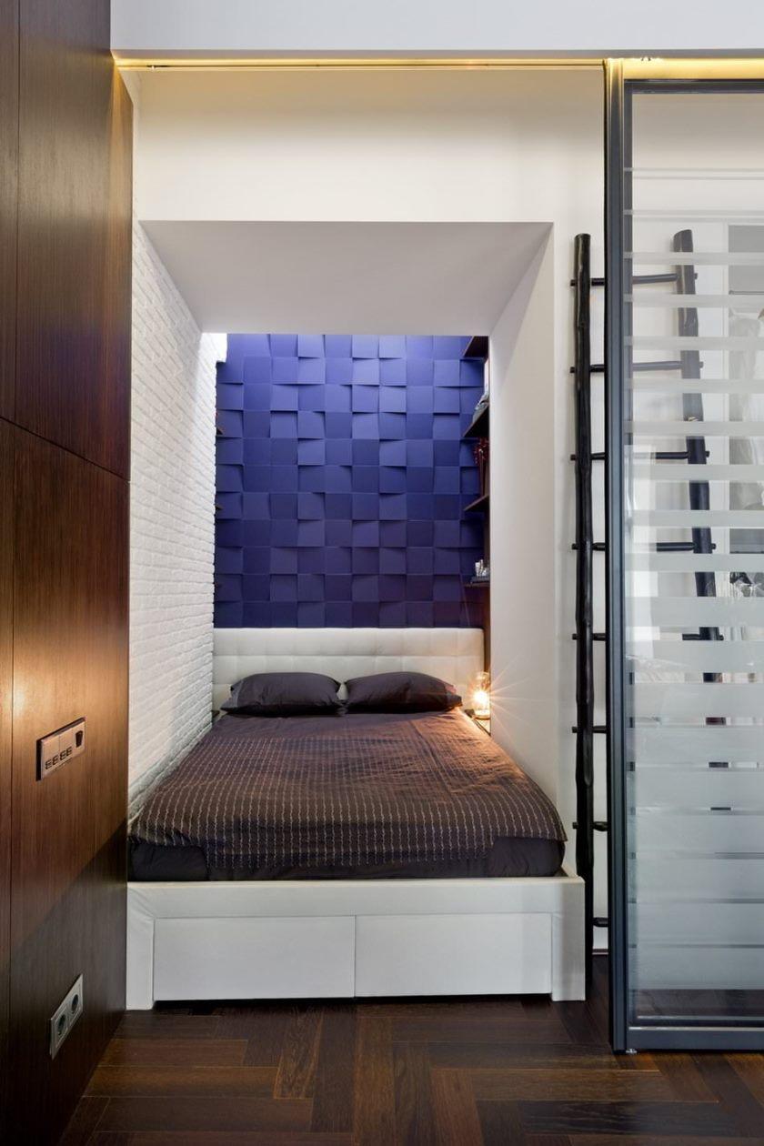 Спальня в однокомнатной хрущевке