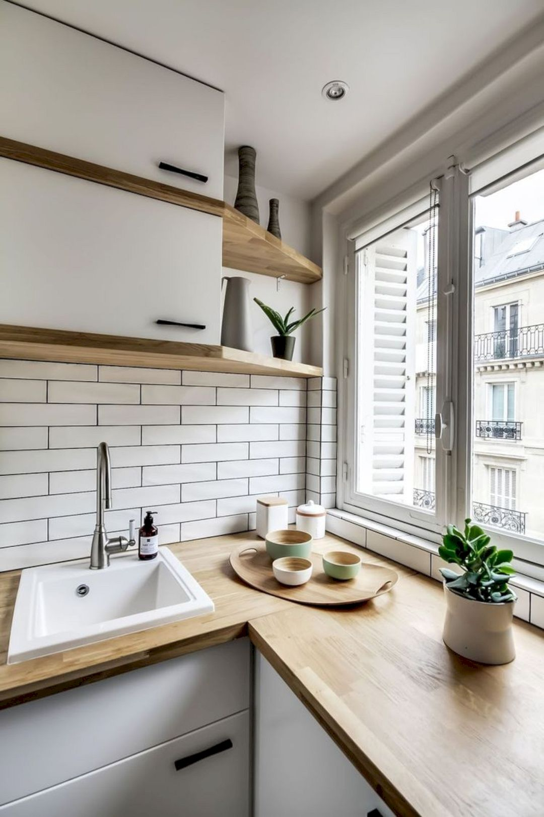 Кухня 6 кв м со столешницей