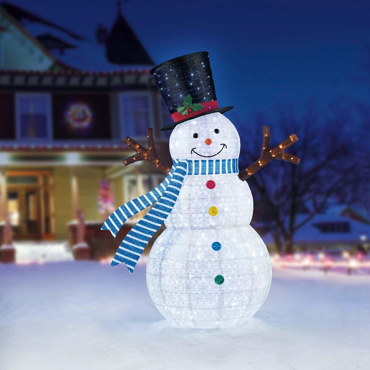 Снеговик светящийся