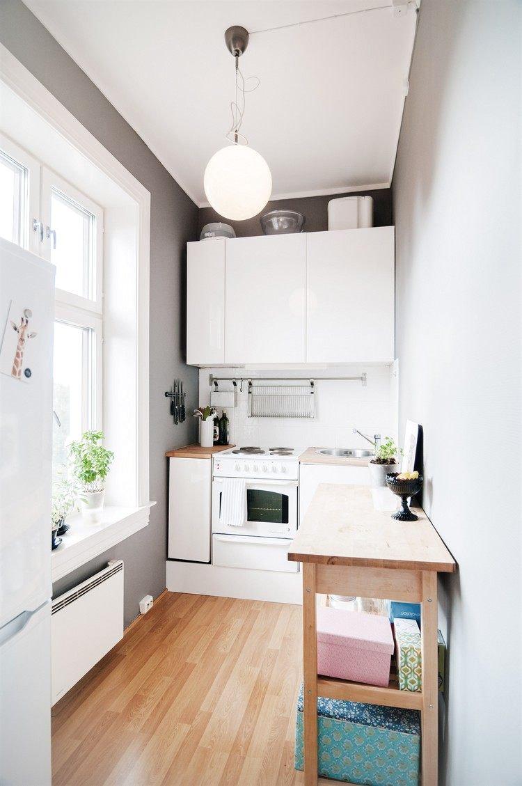 Кухня 6 кв м узкая