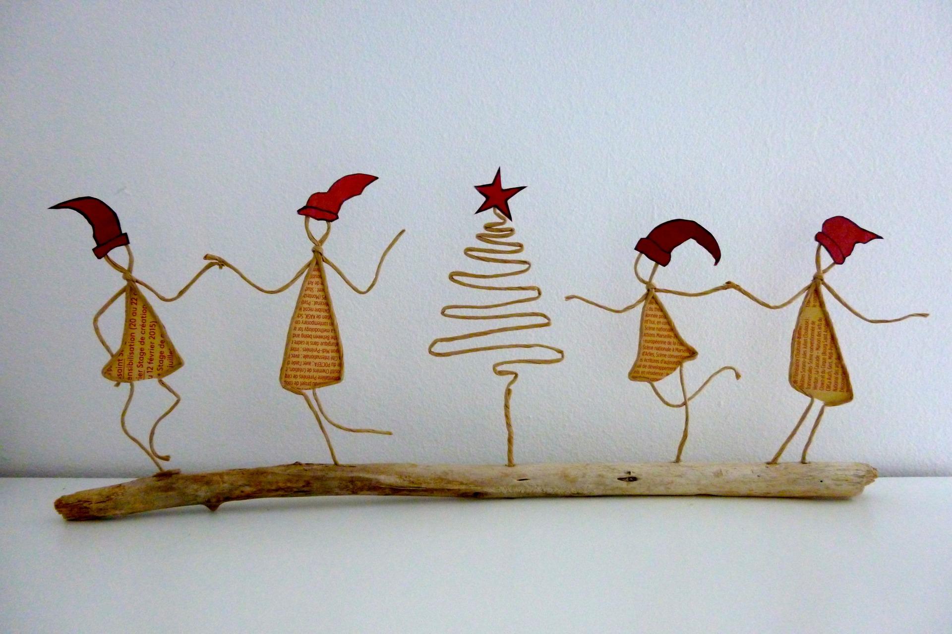 Поделки из бумаги и веревки на новый год