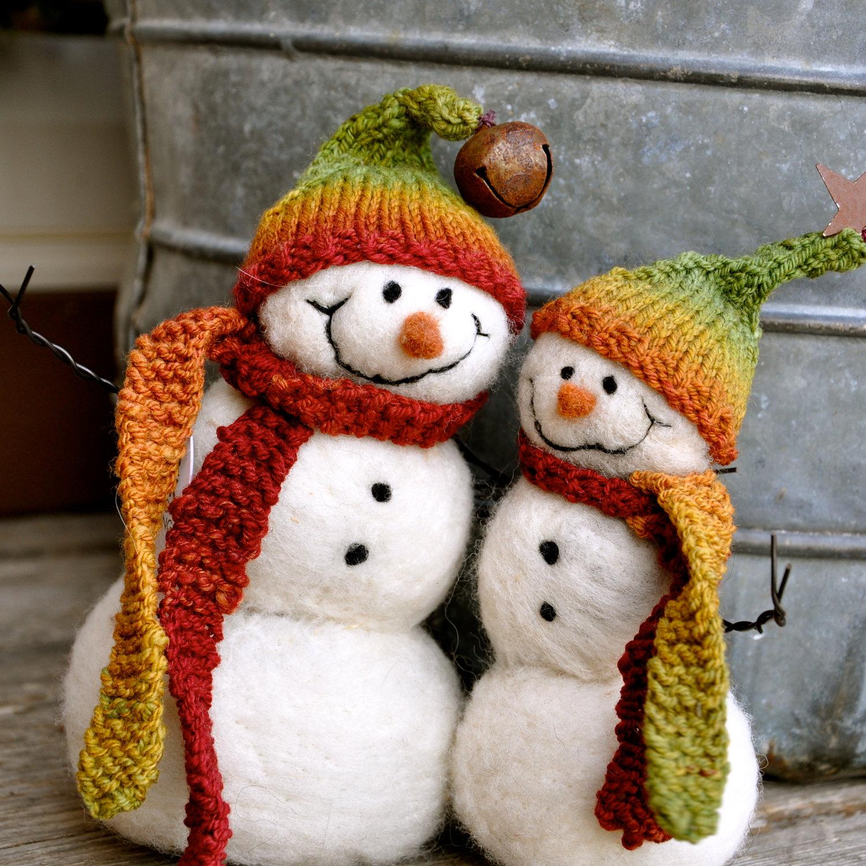 Снеговик из войлока