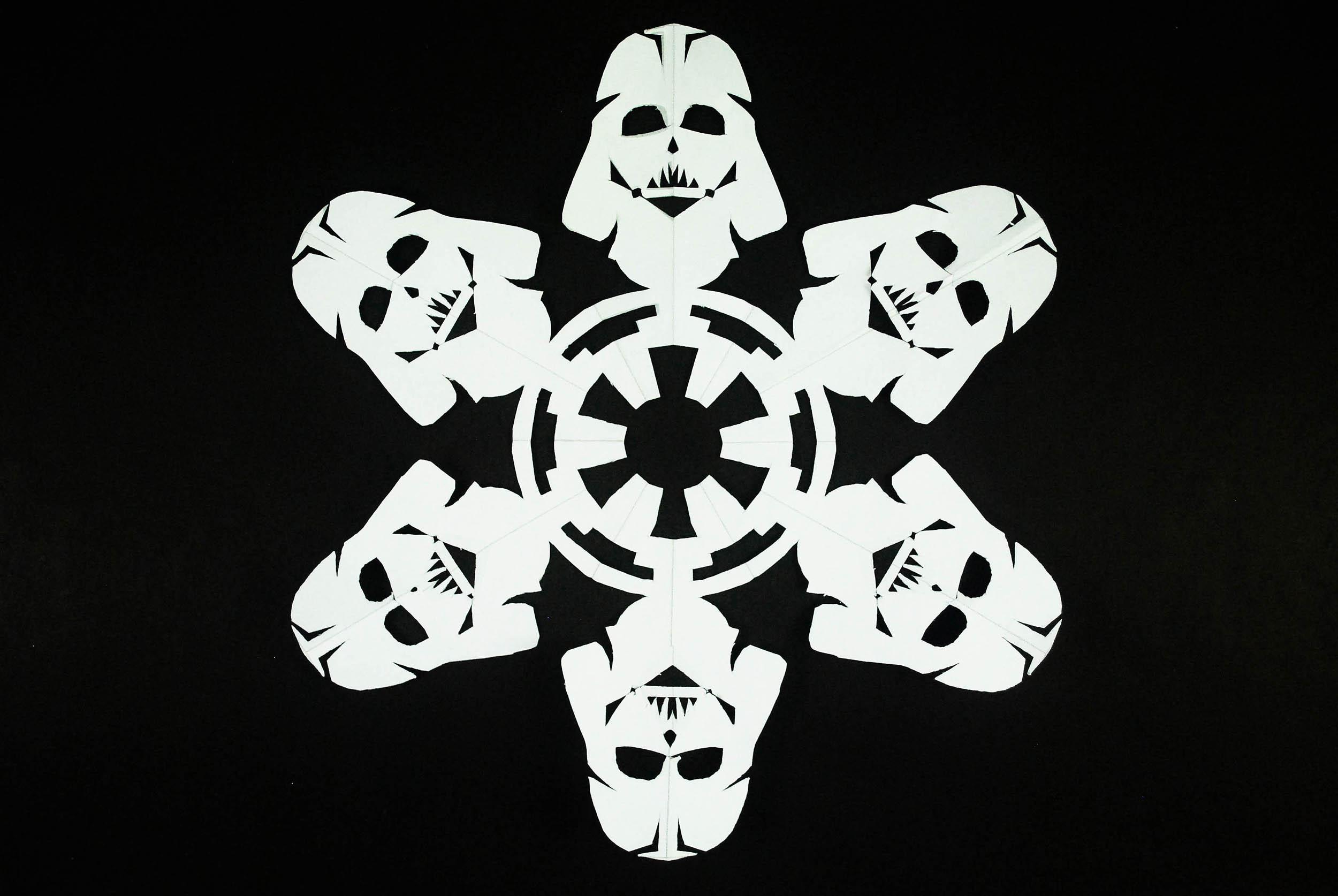 Бумажные снежинки в стиле звездных войн