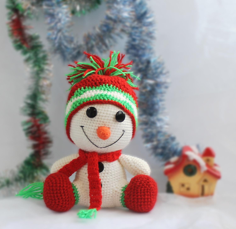 Снеговик из вязаный