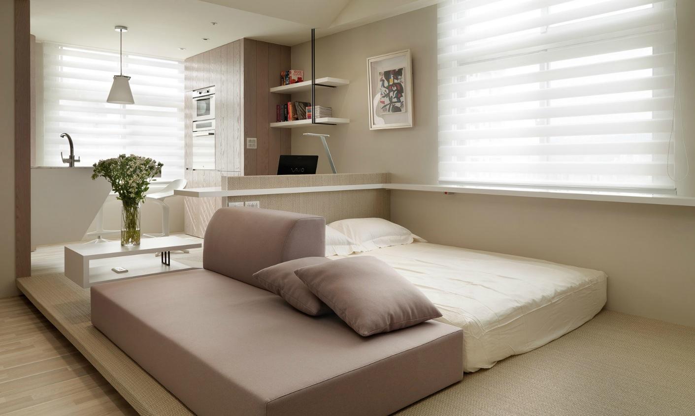 Однокомнатная квартира в японском стиле